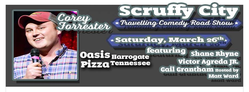 Scruffy City Traveling Comedy Road Show at Oasis Pizza 20160326