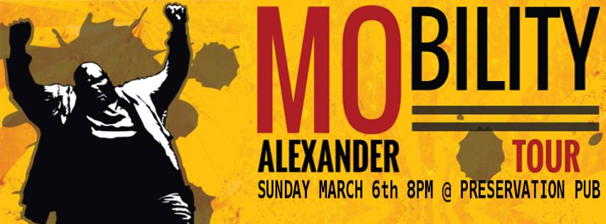 Mo Alexander at Upstairs Undergrounds, 6 March 2016